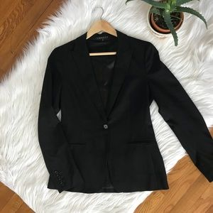 Theory Black Blazer Jacket Career Wear 96% Wool